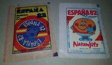 FIFA WORLD CUP SPAIN 1982 NARANJITO soccer 2 STICKERS PACKS Venezuela football