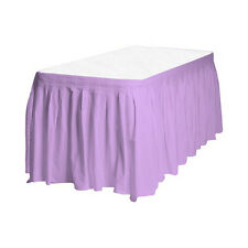 Touch of Color Easy Stick Plastic Table Skirt, 14-Feet, Lavender