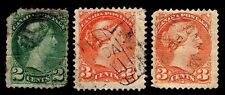 1870-89 CANADA #36-37- QUEEN VICTORIA - UNWMK - USED - FINE+ - CV$5.25 (E#1958)