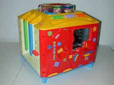 Fisher Price Incrediblock 8 Original Interactive Peek A Blocks Music Cube Works!