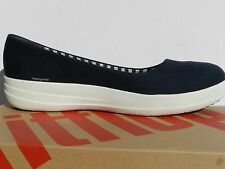 Fitflop F-Sporty Chaussures Femme 41 Canvas Ballerines Bateau Wide Fit Neuf UK7