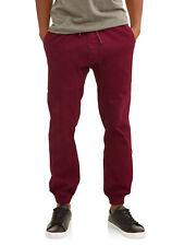 NEW Mens Phat Farm Burgundy Stretch Twill Drawstring Jogger Pants Size XL