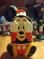 New listing Vtg Walt Disney Peek a Boo Mickey Mouse Musical Lullaby Crib Toy Works (Illco)