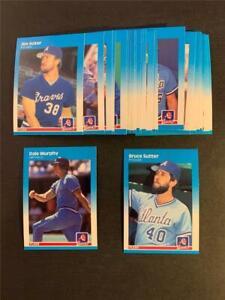 1987 Fleer Atlanta Braves Team Set 27 Cards With Update