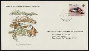 Seychelles Zil Elwannyan Sesel 85 on FDC - Fiddler Crab