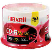 Maxell 625156-CDR80MU50PK Music CD-Rs - 50-ct Spindle 80-Minute