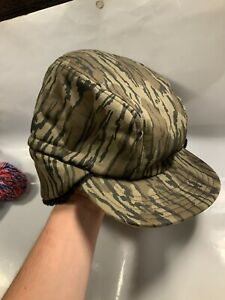 Vintage Hunting Trapper Hat Cap Fur Ear Flaps L/XL Camo Camouflage Thinsulate