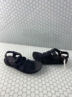 TEVA Original Dorado Black Strappy Ankle Strap Sport Sandals Women's Size 8