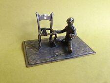 New listing antique miniature sterling silver Chair seat maker man Dutch Netherlands 24.7 gr