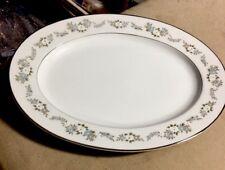 """Noritake Lenore 11 1/2"""" oval platter 6676"""