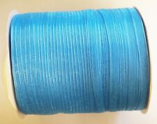 15 Meters Sheer Organza Ribbon - Turquoise - 6mm