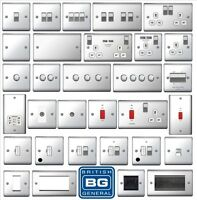 BG Nexus Decorative Light Switches & Sockets Polished Chrome White Inserts Range