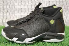 NEW Nike Jordan 14 Retro Black White Green Indiglo 487471 005 MEN 7,WOMEN 8.5