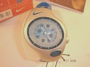 Nike Triax Analogue Super Sports Silver/Blue Watch Unisex 20-401 BOGOF RARE