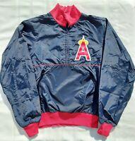 Baseball Angels Mens XL Blue Alpha Sportswear Inc Pullover 1/2 zip Windbreaker