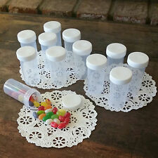 20 Plastic Jars White Caps Container Bottles Wedding Shower Party 3814 Decojars