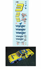 Dale Earnhardt #3 WRANGLER 1984 1/64 scale decal Afx Tyco Lifelike Autoworld