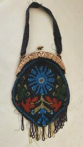 Vintage 1920s French beaded evening bag LOW START