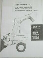 Ih International 3000 Front End Loader Brochure Utility 504 606 340 460 2606