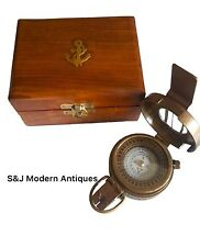 Ww2 Soldiers Military Compass Vintage Brass Replica 1940 Navigation Mark Lll Old