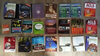 College Textbooks Lot of 21 EMT Biology Nutrition Precalculus Music Sports Etc