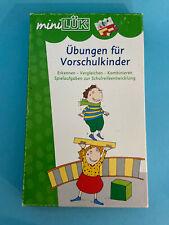 Schule * Mini Lük Kasten 12er + 2 Übungen für Vorschulkinder 1 + 2