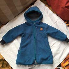 FINKID Fleece Jacke Mantel Gr.100 110 SIMPUKKA Blau gefüttert
