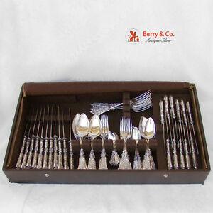 Renaissance Dinner and Luncheon Flatware Set 800 Silver 1890 Bruckmann