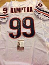52e0ab83e17 Chicago Bears Dan Hampton white signed Jersey JSA witness w/HOFinscription