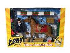 Pony World - Show Jumping Set - Inc. Horse Saddle Bridle Jockey Jump Flags Tack