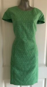 Kew 159 green floral textured pattern dress size 16