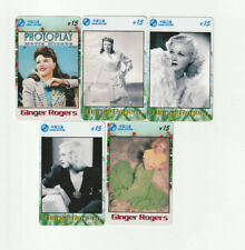 (5) Rare Phone Cards Ginger Rogers