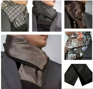 ITALIAN DESIGNER Milano Exclusive BROWN DOUBLE SIDED CASHMERE & SILK  SCARF