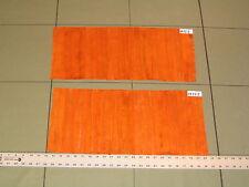 20 Genuine Lg Orange EEL Skin Leather Hide  Crafts M72