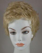 Light Blond/Red Short Wispy Wig w/flips sides & back