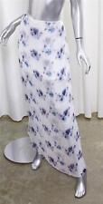 SCANLAN & THEODORE Womens White Silk Floral Chiffon Long Maxi Straight Skirt S