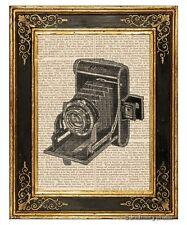 Vest Pocket Folding Camera #2 Art Print on Vintage Book Page Home Office Decor