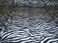 60 Inch Width Zebra Print Polar Fleece, Material,Fabric,Soft /Washable +