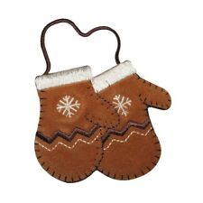 ID 8443 Kids Winter Mittens Patch Snow Glove Fashion Embroidered IronOn Applique