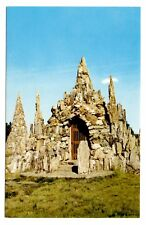 Petrified Wood Castle Postcard Lemmon South Dakota Park Structures Vintage
