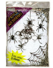 HALLOWEEN COBWEB 85g WITH SPIDERS, GREAT DECORATION, AUTHENTIC EFFECT,