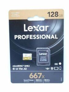 New Lexar 128GB Professional 667x UHS-I V30 U3 microSDXC
