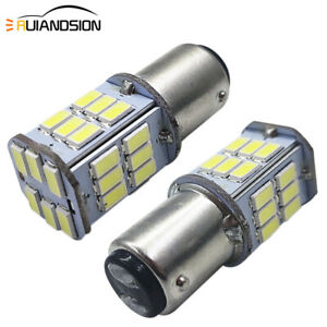 2pcs BA15D LED Light 5630 30SMD White Car Marine Boat RV Camper 1142 1076 DC 6V