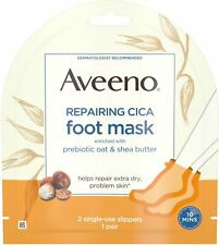 Aveeno Repairing CICA Foot Mask with Prebiotic Oat and Shea Butter,1 ea 3pk