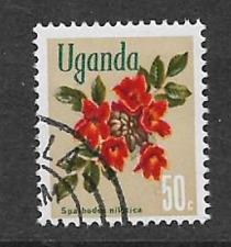 Sello usada Uganda 1969 - 50c-Flora Nativa Árbol De Tulipán Africano tema definitivo