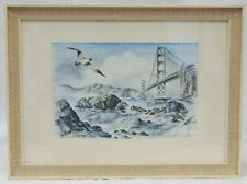 """Alec Stern """"Ashore at the Golden Gate"""" Framed Matted Print 11.5"""" x 15.5"""" B2988"""