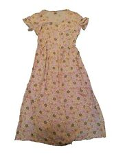 New OILILY WOMENS FLORAL LONG PINK Dress Size SMALL CAP SLEEVE