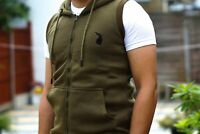 Milano Men Sleeveless Tracksuit Fleece Hoodie Tops with Short for Gym,walking