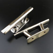 New 2PCS 316 Stainless Steel Heavy Duty Cleat 6 '' Oval Scandinavian Style Boat