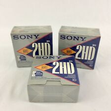 "30 Sony MFD-2HD 3.5"" Micro Floppy Disks 1.44MB Double Sided High Density Sealed"